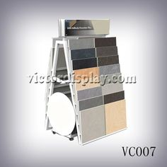stone sample A frame rack for stone and tiles. Xiamen Victor Industry & Trade Co., Ltd  are leading display rack supplier at xiamen. Our main products is stone display rack,tile display rack,tile display stands,quartz stone rack,stone sample book,stone sample binder,stone sample boards. More information please mail ashley@victordisplay.com