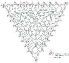 Crochet Lace Triangle chart                                                                                                                                                     More