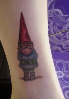Gnome / David the gnome / Cool Tat Latest Tattoos, New Tattoos, Cool Tattoos, Tatoos, David The Gnome, Elves And Fairies, Sister Tattoos, Get A Tattoo, Deathly Hallows Tattoo