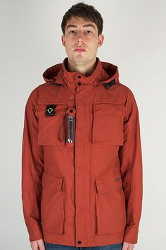 Ma.Strum Rustic Orange Torch Jacket