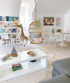 Spacious Playroom with Fun details