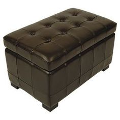 Manolo Leather Storage Bench