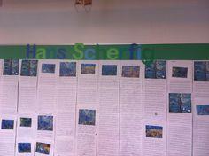 Hans Scherfig emne i 2.klasse. Alle har skrevet en historie med udgangspunkt i et Hans Scherfig billede.