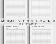 Personal Finance Planner Printable Budget Planner Debt | Etsy Monthly Budget Sheet, Monthly Budget Printable, Monthly Budget Planner, Budget Binder, Financial Planner, Printable Planner, Printables, Planner Template, Budgeting Worksheets