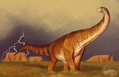 Dinovember 2017 Day 15, Titanosaur by moviedragon009v2
