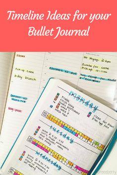 Timeline Ideas for your Bullet Journal