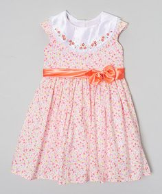 Look what I found on #zulily! Pink & White Social Girl Dress - Infant, Toddler & Girls by Hartland Sisters #zulilyfinds