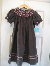 NWT Anavini Smocked Bishop Corduroy Brown Pink Dress Fall Size 3T NEW
