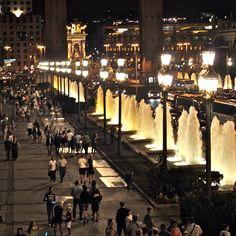 Montjuïc fountains at night - Barcelona (Spain)