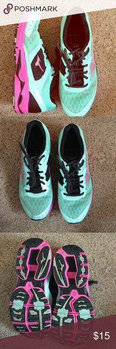 Mizuno Wave Rider 16 Running Shoes These has so much life left in them. I love the color of these! The cover shot is most accurate with the coloring. Open to offers! These come from a smoke free home. Mizuno Shoes Athletic Shoes