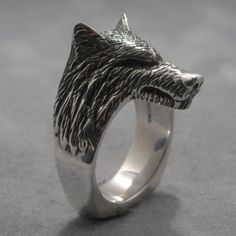 Small fanged werewolf ring by DansMagic on Etsy, $200.00
