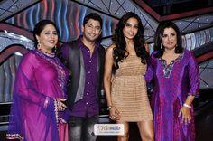 Bipasha Basu with Farah Khan, Geeta Kapoor, Marzi Pestonji | Promotion of Hindi movie 'Raaz 3' on the sets of DID Super Kids at Famous Studios in Mumbai