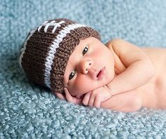 newborn photography prop-baby football knitted hat-newborn football hat-baby boy beanie-baby photo prop-baby shower gift on Etsy, $22.99