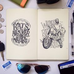 Fun in my home town this weekend, at the largest motorcycle rally in Canada. #wharfratrally #novascotia #digby #motorcycle #motorcycles #illustration #lettering #handlettering #ink #penandink #biker #drawing #art #typography #tw #moleskine #sketchbook #sketch #pendrawing #maritimes #eastcoast #halifax #annapolisvalley #beejaedee #eastcoastart