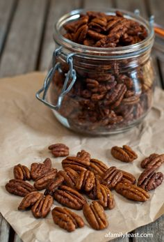Spiced Pecans –This snack recipe makes for a slightly addictive treat, so beware! The pecans are lightly fried with a little bit of heat from the spices. It's great on salads or just for snacking!