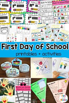These first day of school printables are a great way to get your child excited and ready for school. Fun printables, activities, and more!