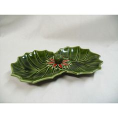 vintage Enesco holly Poinsettia divided candy Dish Christmas holiday decor Listing in the Other,China & Porcelain,Porcelain, Pottery & Glass Category on eBid United States | 143767611