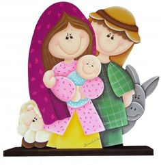 jose y maria Christmas Clipart, Christmas Nativity, Christmas Wood, Christmas Printables, Country Christmas, Christmas Pictures, Christmas Projects, Christmas Holidays, Christmas Decorations