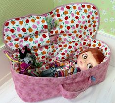 Travel Bag Sleeping Protective Doll Case Blythe Littlefee Handcrafted For Dolls Handmade 1/6 Bjd Dal Pullip Pink - https://www.etsy.com/listing/230356648/travel-bag-sleeping-protective-doll-case?ref=shop_home_active_1