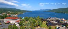View from above the Fort William Henry Hotel & Conference Center/Fort William Henry Museum and the Lake George Steamboat Company
