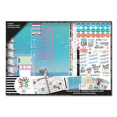 me & my BIG ideas Create 365 The Happy Planner Box Kit 12 Month Undated, Sweat Smile Fitness Classic Planner Dividers, Planner Organization, Planner Tabs, Planner Diy, Planner Ideas, Planner Stickers, Happy Crafters, Create 365, Fitness Planner