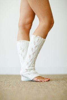 Ivory Knit Lace Button Leg Warmer http://www.nanamacs.com/ivory-knit-lace-button-leg-warmer/ #love #ivory #cute