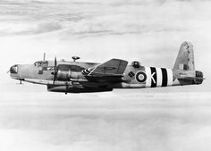 Vickers Warwick ASR Mark I, HF944 'K', of No. 282 Squadron RAF based at St Eval, Cornwall, in flight, carrying the short Mark IA Lifeboat