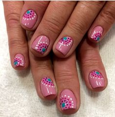flower nail designs 60 Polka Dot Nail Designs for the season that are classic yet chic - Hike n Dip Dot Nail Designs, Flower Nail Designs, Nails Design, Dot Nail Art, Polka Dot Nails, Cheetah Nails, Polka Dots, Blog Beauté Bio, Nail Design Spring