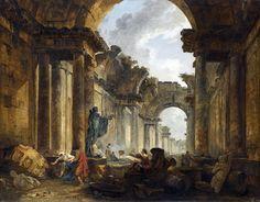 Hubert Robert, Vue imaginaire de la Grande Galerie du Louvre en ruines, 1796, Musée du Louvre