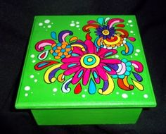 Painting Kids Furniture, Decoupage Furniture, Hand Painted Furniture, Painting On Wood, Painted Clay Pots, Painted Boxes, Dyi Crafts, Arts And Crafts, Paper Crafts