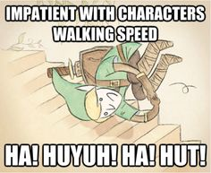 How I play ANY zelda game unless it's skyward sword... And I have many stamina potions at my disposal