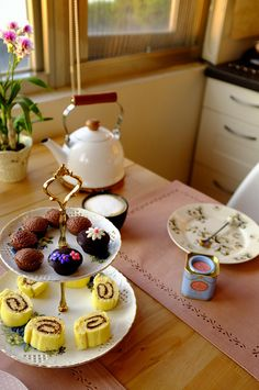 Afternoon tea at home.