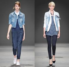 G-Star RAW 2014 Spring Summer Womens Runway Collection - New York Fashion Week - 25th anniversary Type C Elwood Faeroes Lumber Pant Trason R...