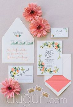 coral and peach inspired boho chic wedding invitations 2014 Wedding Invitation Inspiration, Watercolor Wedding Invitations, Floral Wedding Invitations, Wedding Stationary, Wedding Inspiration, Bohemian Chic Weddings, Boho Wedding, Fall Wedding, Wedding Reception