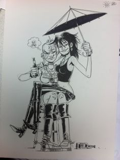 Tank Girl and Death by Rufus Dayglo