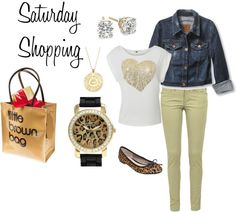 """""""Saturday Shopping"""" by krispardue ❤ liked on Polyvore"""