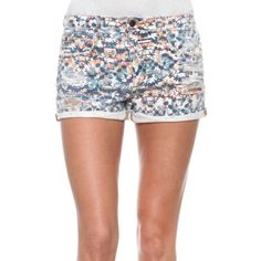 "Joe's Jeans Collector's Edition High Rise Shorts NWT Joe's Jeans Collector's Edition High Rise Rolled Short in ""stained mosaic print"". Size 27. Has some distressing and frayed hem that has been rolled and tacked in a vintage high rise fit that shows off your waist and legs. Has a snug fit that will stretch with wear. These are simply adorable! I'm open to offers!  98% cotton 2% elastane  Machine wash cold, line dry Made in the USA Joe's Jeans Shorts"