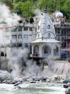 Hot water springs,Manikaran Temple, Kullu, Himachal Pradesh,