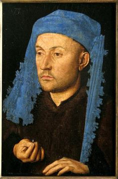 Jan van Eyck • Man in a Blue Cap / Man with a Ring, ca.1430