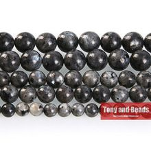 "Free Shipping Natural Stone Black Labradorite Round Beads 16"" Strand 4 6 8 10 12MM Pick Size For Jewelry Making No.AB61(China (Mainland))"
