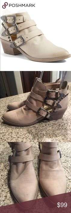 Dolce vita spur western buckle ankle boots 10 Worn twice, no box. Color is called sand. Size 10. No box no trades Dolce Vita Shoes Ankle Boots & Booties