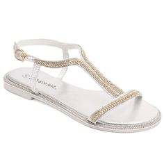 Simple Rhinestones and Chain Design Women's Sandals #>=#>=#>=#>=#> Click on the pin to check out discount price, color, size, shipping, etc. Save and like it!