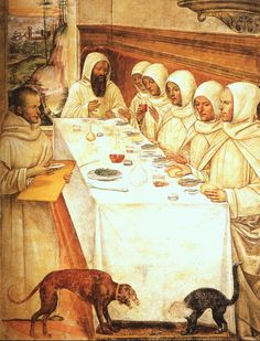 """Il Sodoma  """"Saint Benedict and His Monks Eating in the Refectory"""""""