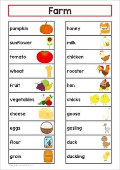 Farm Word Wall. This packet includes large cards for the classroom wall and a small word list with pictures that you can put inside a binder and keep at your writing center.