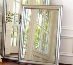 Pottery Barn Silver Beaded Mirror $483 for the living area