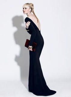 Vivien Jersey Gown with Train - Black,  Dress, eco friendly  green  organic  asymmetrical  cutout, Eco Friendly