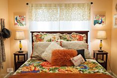 Finished! Salmon, coral, anthropologie, teen bedroom, teen room makeover