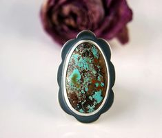 From Above - Turquoise Sterling Silver Ring
