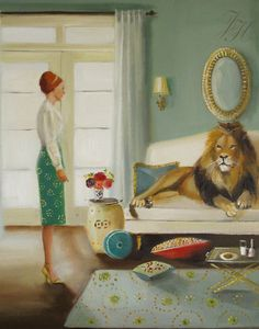 The Houseguest Art Print From Original Oil by janethillstudio, $26.00