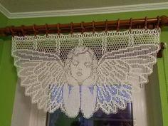 Filet Crochet, Thread Crochet, Crochet Motif, Crochet Flowers, Knit Crochet, Crochet Curtain Pattern, Crochet Curtains, Curtain Patterns, Baby Knitting Patterns